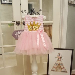 "Other - 💕 Baby Girl ""One"" Tutu Dress"